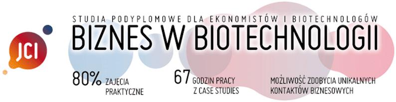 Biznes wbiotechnologii - studia podyplomowe - UJ